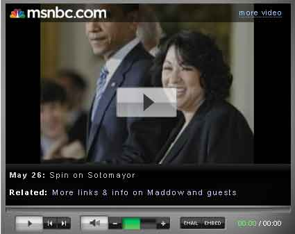 Maddow Discusses Sotomayor's Record