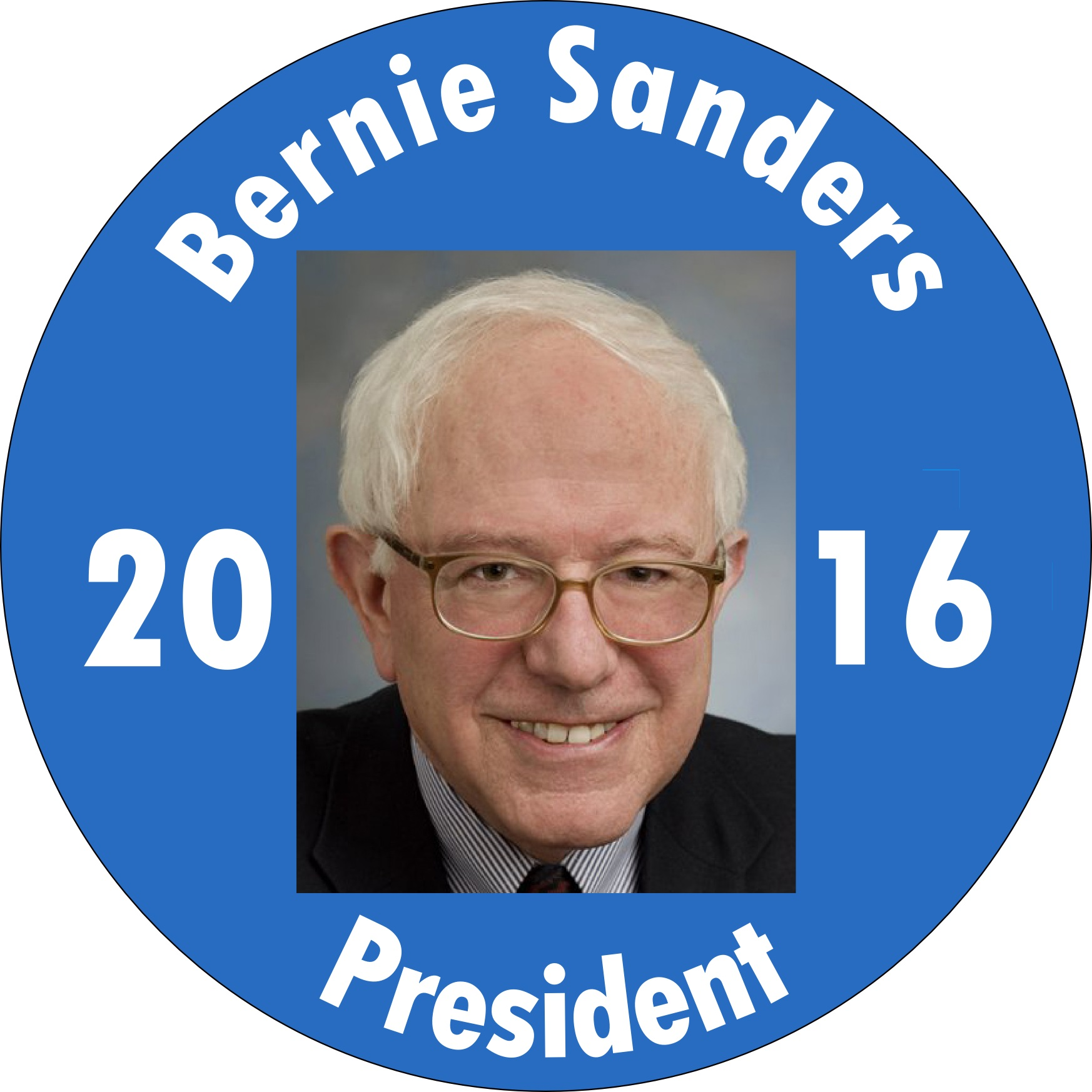 bernie sanders for president. large image of bernie sanders button for president s